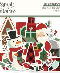 Jingle All the Way Simple Stories - Die-cuts (57 pezzi)
