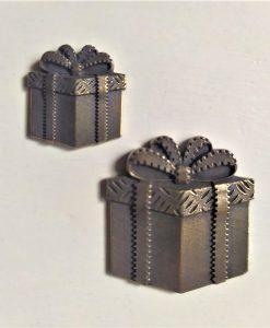 Regali - abbellimento in metallo (2 pezzi)