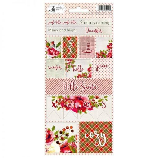 Rosy Cosy Christmas 02 - Foglio di adesivi