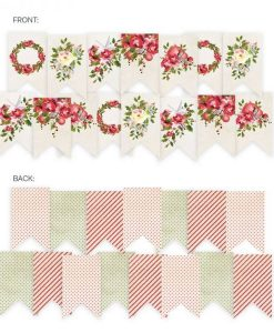 Rosy Cosy Christmas - Banner fustellato die-cut (15 pezzi)