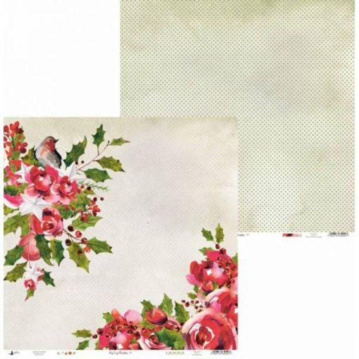 Rosy Cosy Christmas - Blocchetto Cartoncino 12x12 (12 fogli)