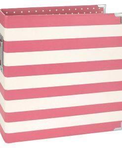 "SN@P! Binder Pink Stripe - Album ad anelli 6x8"""