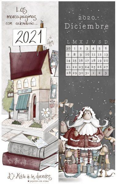 Natale 2021 Calendario.Segnalibro El Altillo De Los Duendes Calendario 2021