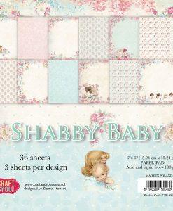 "Shabby Baby - Blocchetto Cartoncino 6x6"" (36 fogli)"