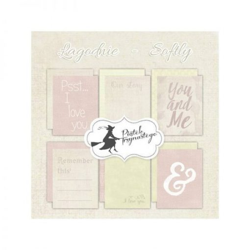 Softly - Set di Journaling Cards 3x4""