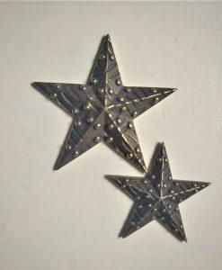Stelle 1 - abbellimento in metallo (2 pezzi)