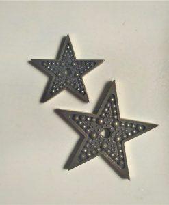 Stelle 2 - abbellimento in metallo (2 pezzi)
