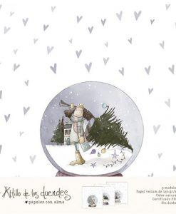 Una Navidad de Abrazos (Natale) El Altillo de los Duendes - Fogli vellum (3 pezzi)