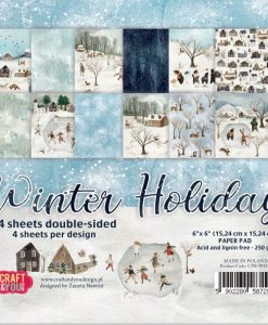 Winter Holiday Craft & You - Blocchetto Cartoncino 6x6 (24 fogli)