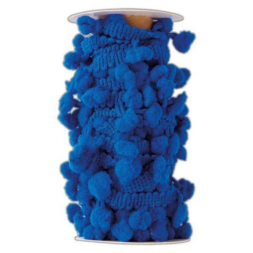 Bobina di filo con pom pom Docrafts - Blu Navy (3m)