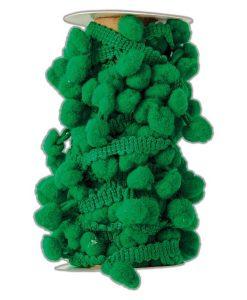Bobina di filo con pom pom Docrafts - Verde (3m)