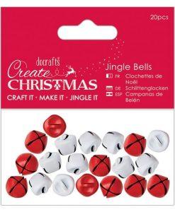 Campanelle di Natale Docrafts - Rosso e Bianco (20 pezzi)
