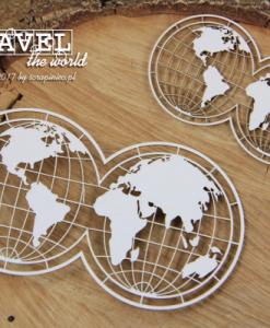 Globo Travel the World Scrapiniec - elemento fustellato (2 pezzi)