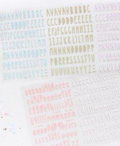 Mini alfabeto puffy - Adesivi (582 pezzi)