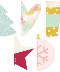 Muérdago Mintopía - Pagine fustellate per Album di Natale (5 pezzi)