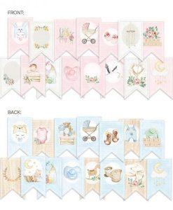 Baby Joy Banner fustellato die-cut (15 pezzi)