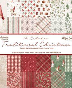 Collezione Traditional Christmas Maja Design- Cartoncino 12x12 (12 fogli)