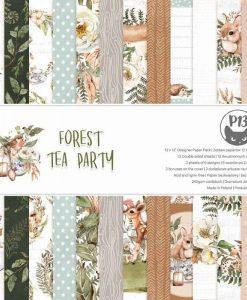 Forest tea party - Blocchetto Cartoncino 12x12 (12 fogli)