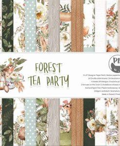 Forest tea party - Blocchetto Cartoncino 6x6 (24 fogli)