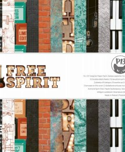 Free Spirit - Blocchetto Cartoncino 12x12 (12 fogli)