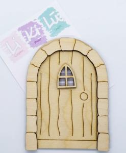 Porta 2 - Abbellimenti in legno (3 pezzi)