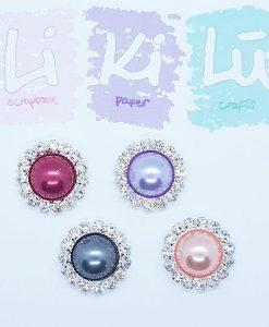 Set di perline con cerchio di brillanti (4 pezzi)