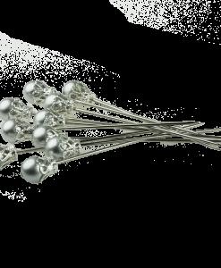 Set di spilli con testa - Argento (5 pezzi)