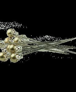 Set di spilli con testa - Oro antico (5 pezzi)