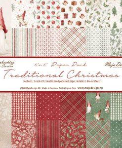 """Traditional Christmas- Cartoncino 6x6"""" (36 fogli)"""