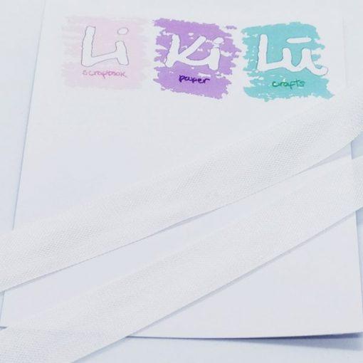 White Seam binding - Nastro 5m