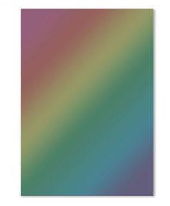 Rainbow Holographic - Cartoncino Lucido Foil Mirri A4 (10 pezzi)