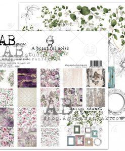 A Beautiful Noise AB studio - Blocchetto Cartoncino 12x12 (8 fogli)