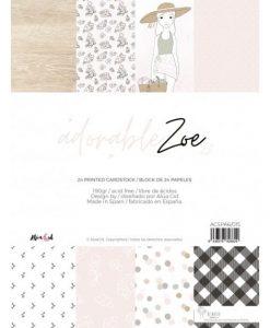 """Adorable Zoe 2.0 Alúa Cid - Blocchetto Cartoncino 6x8"""""""
