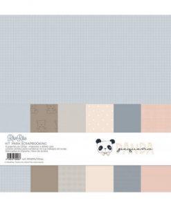 Basic Pequeño Panda - Blocchetto Cartoncino 12x12 (6 pezzi)