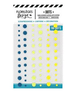 Enamel dots Yellow - Florilèges Design (66 pezzi)