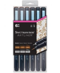 Neutral - Spectrum Noir Artliners (6 pezzi)