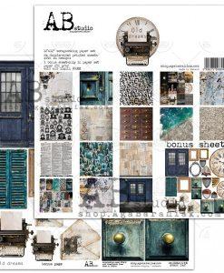 Old dreams AB studio - Blocchetto Cartoncino 12x12 (8 fogli)