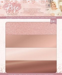 Rose Gold Luxury Mixed Cardstock - Crafter's Companion (24 pezzi)