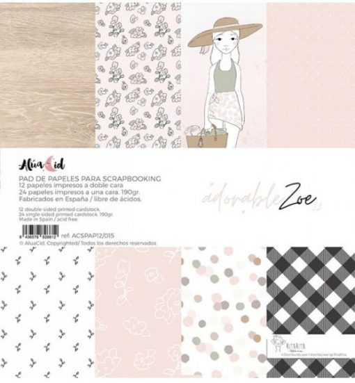 """Stack Adorable Zoe 2.0 Alúa Cid - Blocchetto Cartoncino 12x12"""""""