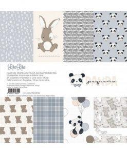 Stack Pequeño Panda - Blocchetto Cartoncino 12x12 (36 pezzi)