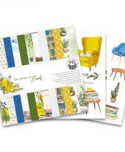 """The Garden of Books Standard - Blocchetto Cartoncino 6x6"""" (24 fogli)"""