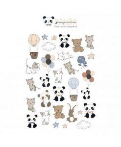 Adesivi puffy - Pequeño Panda