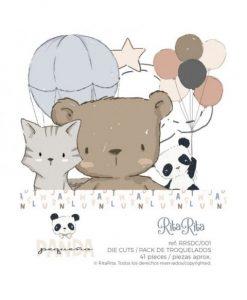 Die-cuts (41 pezzi) - Pequeño Panda