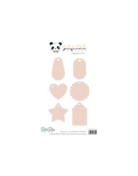 Fustella tags bebé - Pequeño Panda (6 pezzi)