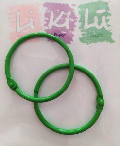 Set di anelli in metallo 45mm - Verde (4 pezzi)