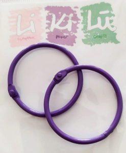 Set di anelli in metallo 45mm - Viola (2 pezzi)