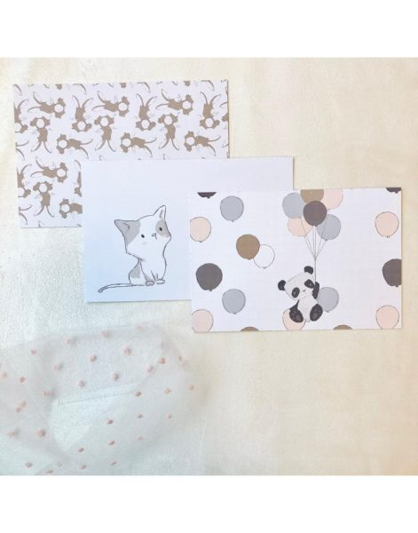 Set di cards - Pequeño Panda (48 pezzi)