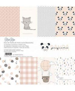 Stack Pequeño Panda Rosa - Blocchetto Cartoncino 12x12 (36 pezzi)