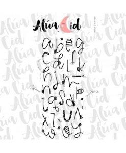 Alfabeto lettere minuscole Ari Alúa Cid - Timbro