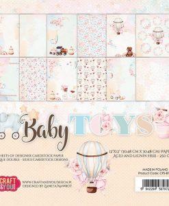 Baby Toys - Blocchetto Cartoncino 12x12 (12 fogli)